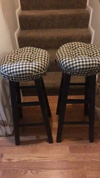two black-and-white padded stools Rockville, 20850