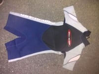 Youngman/wand wetsuit. Used once. Short sleeved Natick