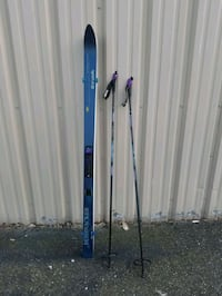 Vintage Bushwacker Trax cross country skis with poles Reston, 20194