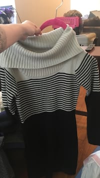 white and black striped cowl-neck sweater St. Louis, 63110