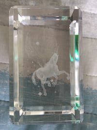 3D  etched glass pegasus with light base Arlington, 22201
