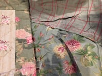 April Cornell Queen duvet cover and Shams green floral printed bed sheet Toronto, M1K 4R7