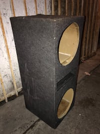 black and brown subwoofer enclosure Gardena, 90248