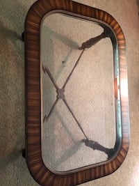 Coffee Table - Wood and Glass Rock Hill