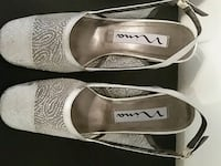 Silver Sparkle fabric  dress shoes size 7