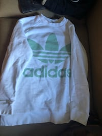white and green Adidas crew-neck sweater North Vancouver, V7P 0A8