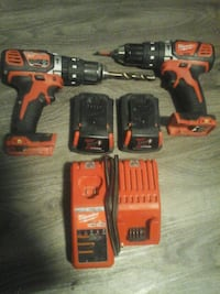 red and black Milwaukee cordless power drill Vancouver, V6A 2S7