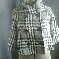 SAXS FIFTH AVENUE TWEED CROPPED JACKET WITH 3/4 LENGTH SLEEVES TOMSRIVER