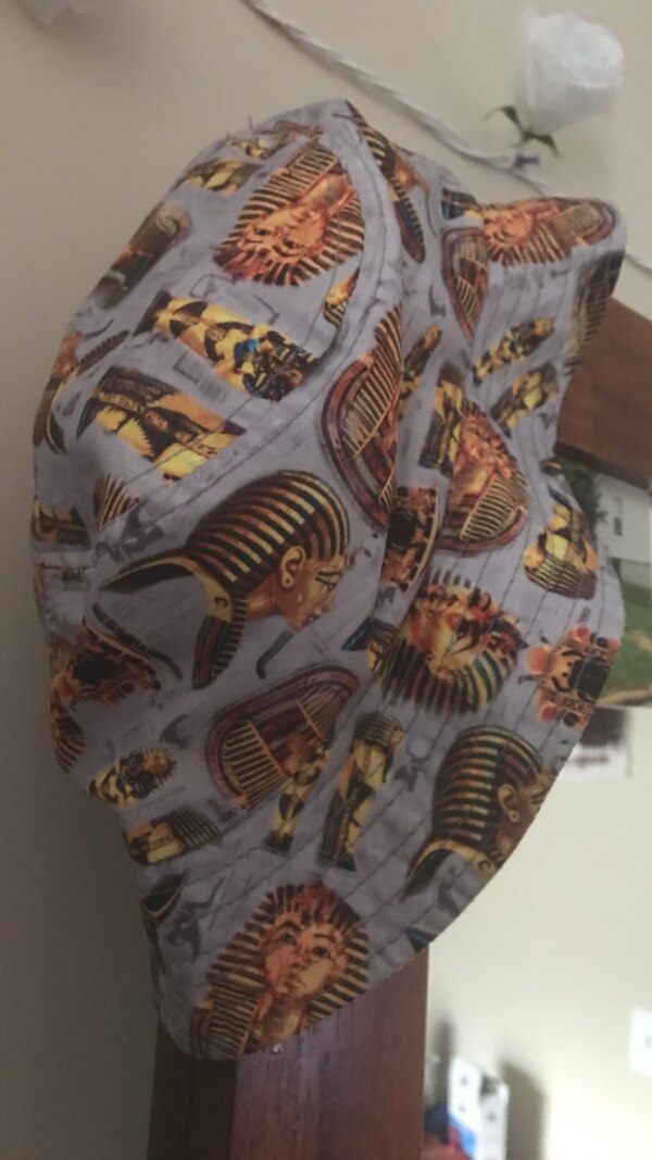 970a27f8270 Used gray and beige egyptian print bucket hat for sale in Austell ...