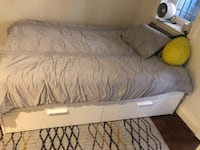 Queen bed frame with Mattress Washington