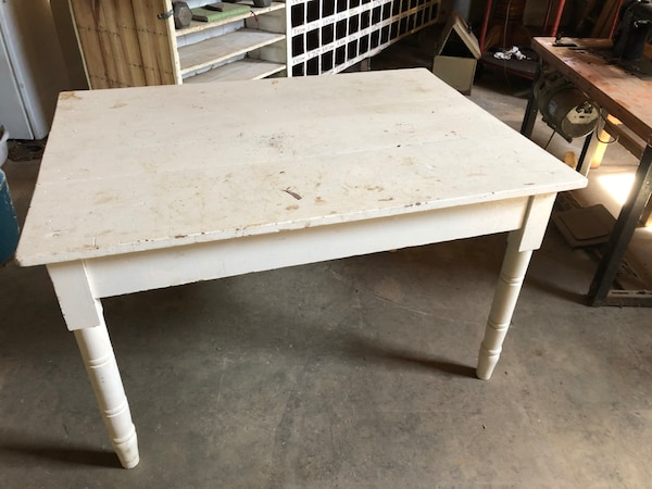 Painted Pine Kitchen Table - Vintage circa 1950