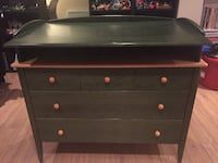 brown wooden 3-drawer chest CHATEAUGUAY