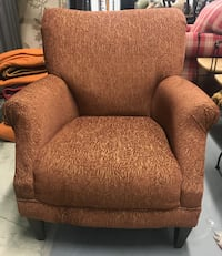 brown fabric sofa chair with throw pillow Denver