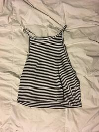 black and white tank top (size large)