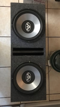 gray and black 12 inch subwoofer 400 rms apiece price is negotiable