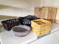 Various Wicker Baskets (5)