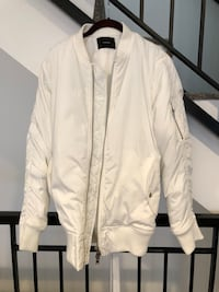 Stampd All White Flight Bomber Jacket Size Large Like New Los Angeles, 90045