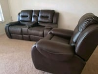 2 +1 leather recliner sofa  Lake Mary, 32746