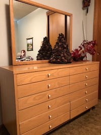 Chest of drawers - 6 drawers + mirror Tacoma