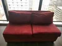 Sofa pull out BED - red suede  Baltimore