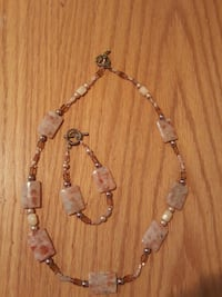 white and pink gemstone necklace Lake Elsinore, 92532