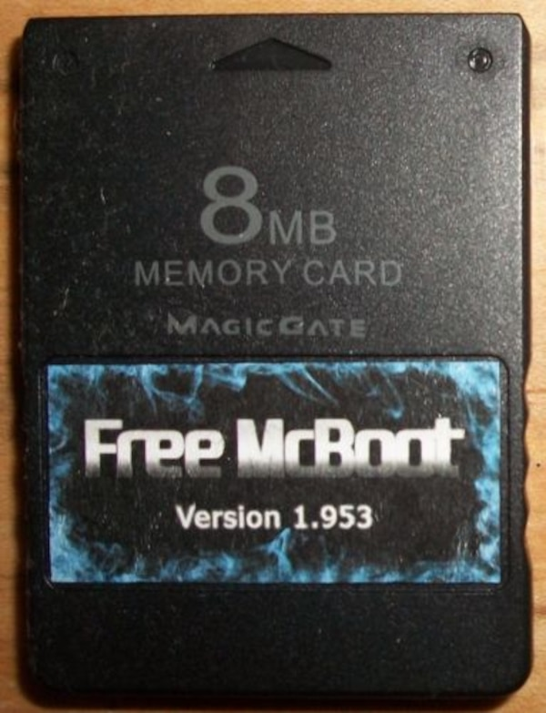 Used FMCB / PS2 Memory Cards with Free Mcboot 1 953 Region Free with