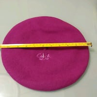 NEW: womens Coach 100% lambs wool fuchsia Beret SM