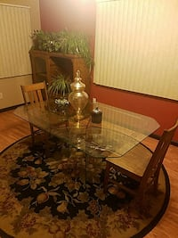 octagonal glass top metal based coffee table