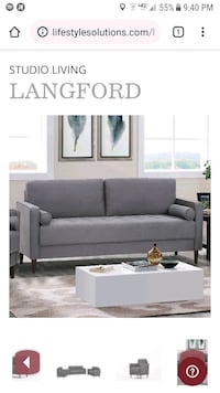 Life Style Solutions Langford Sofa-Grey Eastchester