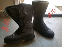 pair of black leather boots Gilroy, 95020