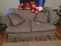 gray and white plaid fabric loveseat Apopka