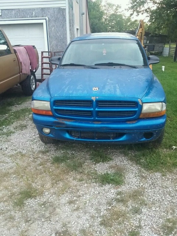 blue Dodge Ram pickup truck