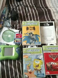 green ,blue Leapfrog 2 learning tablet with games