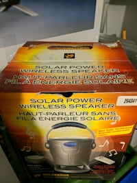 gray solar power wireless speaker box Hamilton, L9B 1T5