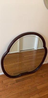 Brown wooden framed wall mirror Rockville, 20853