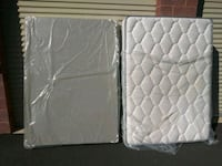 Used JUPITER brand full size Mattress and box spr
