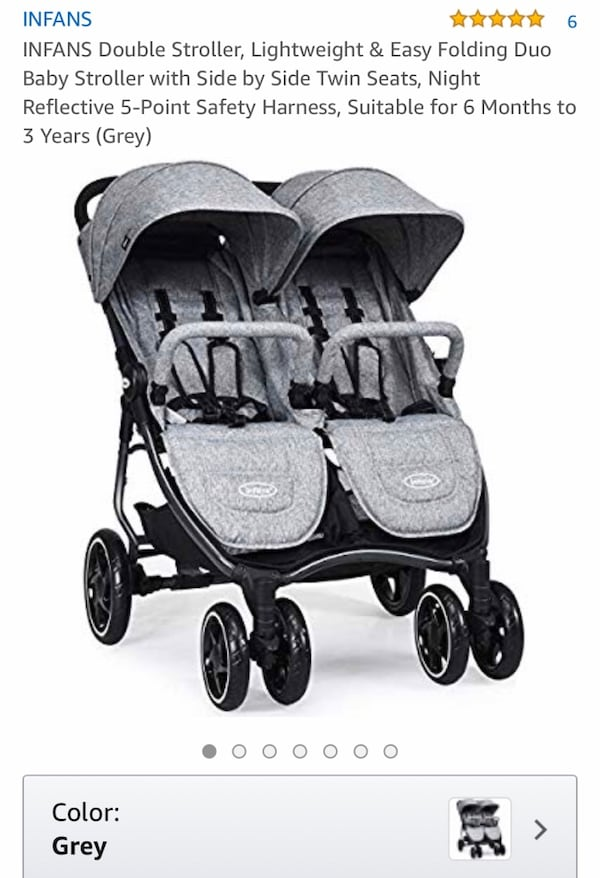 Infans baby double stroller c9a2db30-8fe8-4927-a47e-5c905db68644
