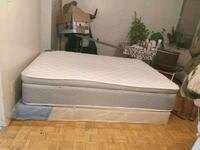 white mattress and brown wooden bed frame Toronto, M3L 2H9