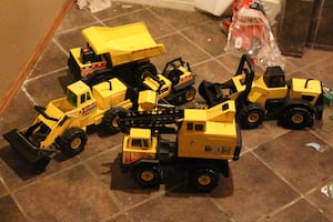 Mighty Tonka truck lot