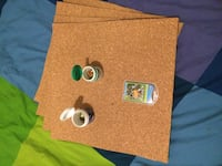 Cork board sheets (4) and tacs of different sizes Madrid, 28013