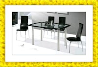 5pc glass top dining set Silver Spring, 20906