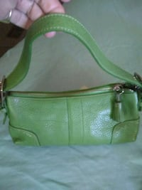 Coach green leather bag Dallas