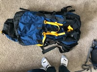 Blue and black North face hiking backpack San Francisco, 94132