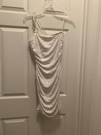 White with gold sequins size small