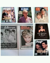 Lot of Princess Diane Magazines and Newspaper Toronto, M6M 1T1
