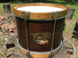 1930,s Slingerland Radio King Cloud Badge Marching Snare Drum