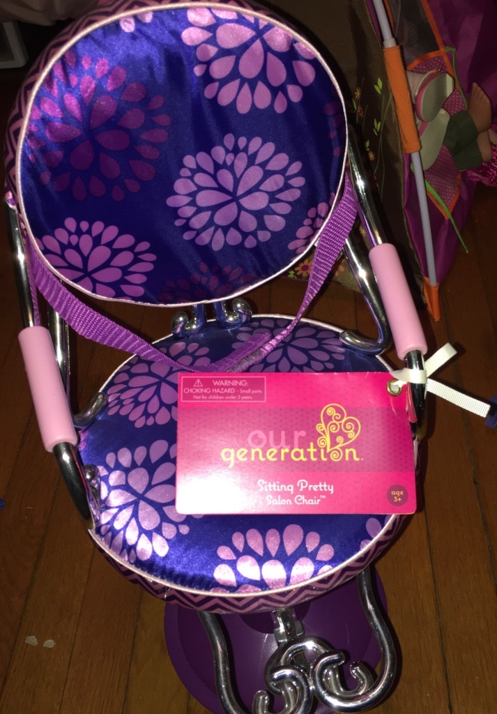 Photo Doll salon chair- new with tags