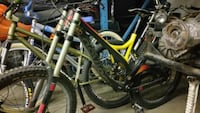 black and yellow  mountain bike Burnaby, V5C 4G1