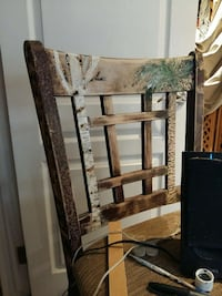 brown wooden padded high back chair Ontario, L0R 1P0
