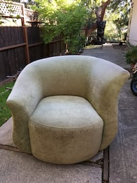 Sage green swivel art deco arm chair. in good condition we just have no room for it!